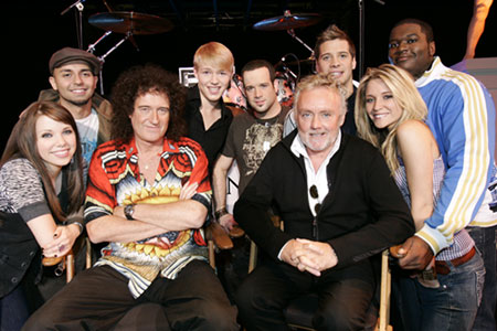 Brian and Roger with Canadian Idol kids
