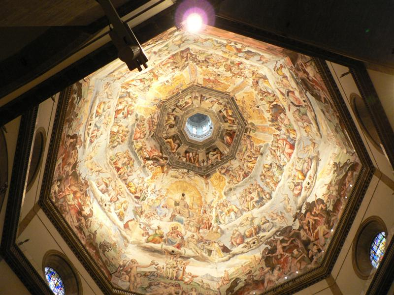 Painting ceiling of the Duomo in Florence