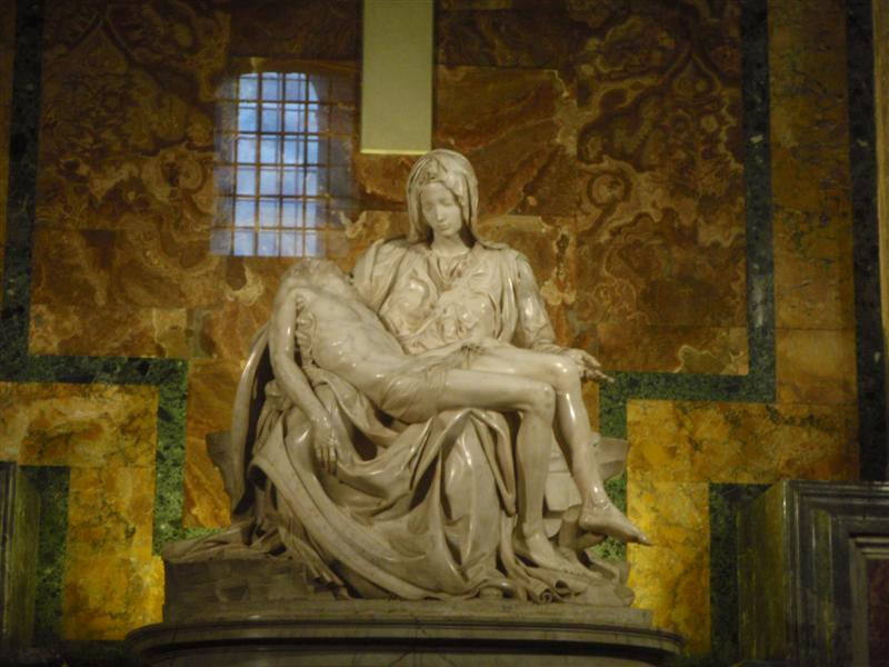 Sculpture of Jesus and Mary