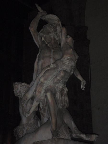 Statue in the dark