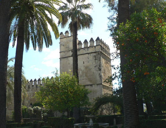 Andalusia castle and greenery