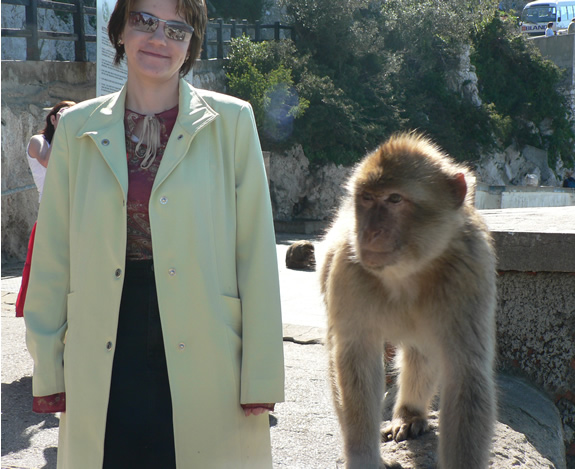 Cathy and monkey