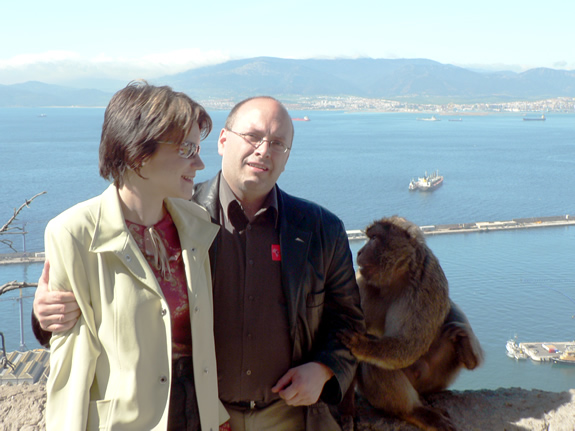 Cathy, Jean, and monkey