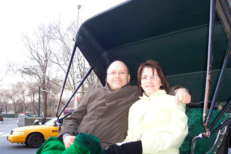 Jean and Cathy in Central Park carriage