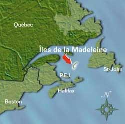 Map of Iles de la Madeleine