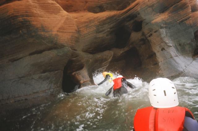 Sea caving