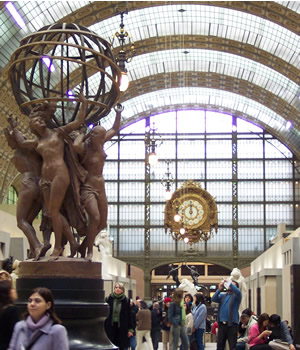 Musee d'Orsay in converted train station