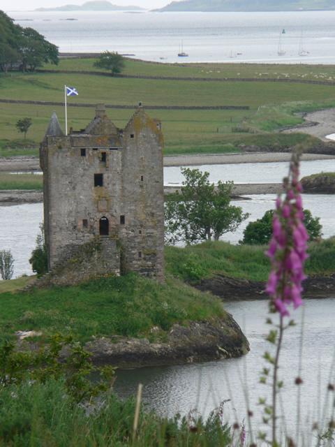 Small castle on an island