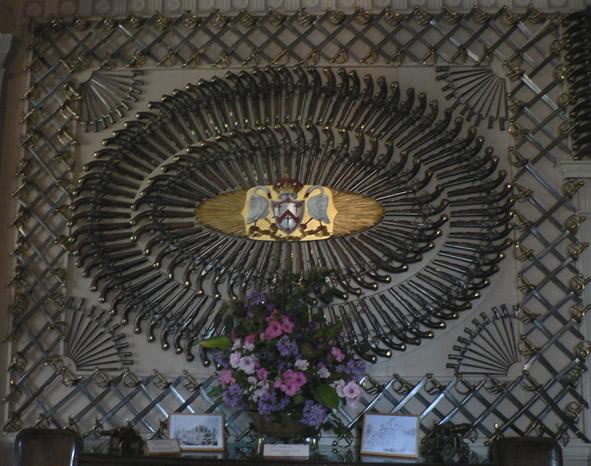 Knife display at Culzean Castle