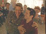 Ben and Michael in confetti