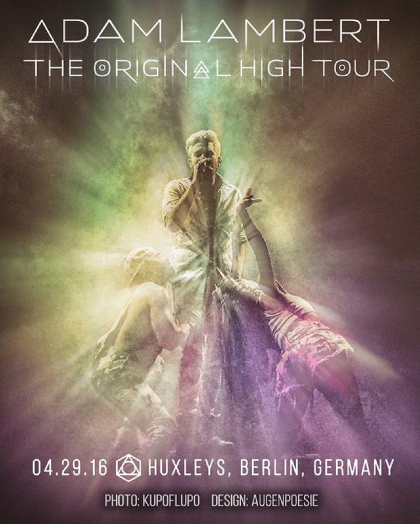 Adam Lambert concert poster
